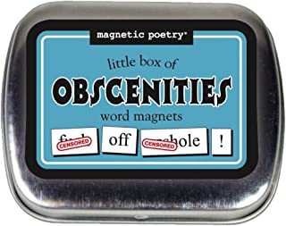Magnetic Poetry - Little Box of Obscenities Kit - Words for Refrigerator - Write Poems and Letters on The Fridge - Made in The USA