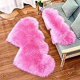 Soft Fluffy Rugs Heart Shape Rug, Fur Rugs for Bedroom, Fuzzy Carpet for Living Room, 2x4 Feet, Ciicool