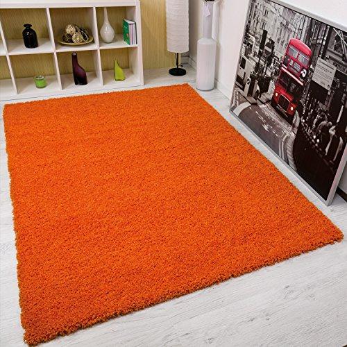 Serdim Rugs Shaggy-Teppich für Wohnzimmer, Polypropylen, Orange, 120 x 170 cm
