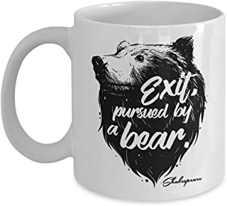 Exit Pursued By Bear Funny Shakespeare Script Quote Theater Gift Mug (11oz)