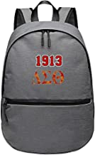 LASYLY Delta Sigma Theta School Backpack Laptop Backpack Unisex Classic Light Waterproof Travel Backpack