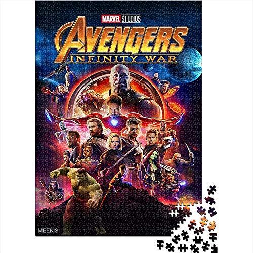 CELLYONE Puzzle Adulto da 1000 Pezzi Avengers 3: Infinity War Movie Poster Puzzle Classico da 1000 Pezzi Puzzle Gioco Sfida per Adulti per Bambini 52x38CM(1000pcs)