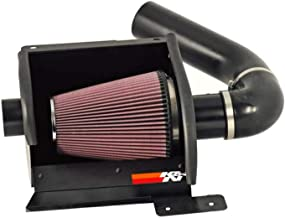 K&N Cold Air Intake Kit with Washable Air Filter: 1997-2016 Ford (E350 Cutaway/SuperDuty/Wagon, E450 Cutaway/SuperDuty/Motorhome, E250) Black Metal Finish with Red Oiled Filter, 77-2570KTK