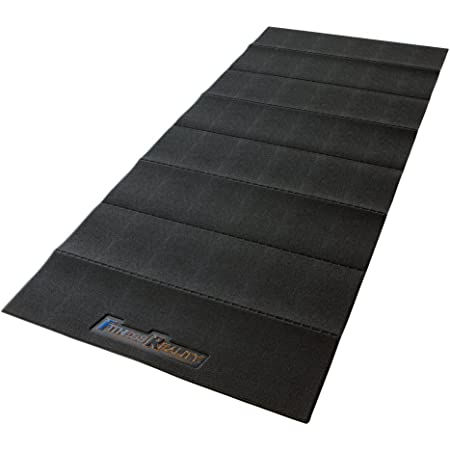 """Fitness Reality Water-Resistant Folding Exercise Equipment Mat (79"""" x 35.4""""), Black, 2950"""