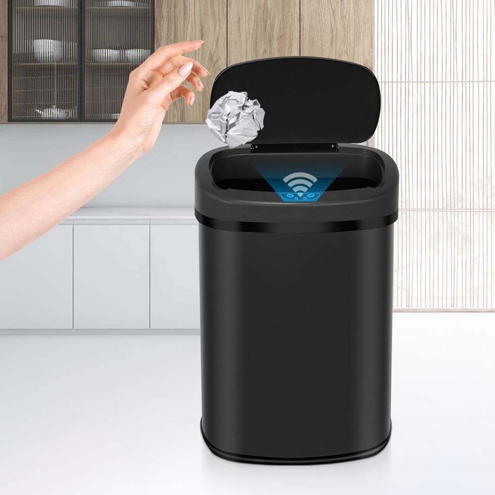 13 Gallons Trash Can Garbage Steel trust Bin Stainless Aut Ranking TOP20