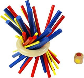 Plunge forward バランスゲーム カラフル スティッキー 教育玩具 木製 子供 おもちゃ テーブルゲーム パーティーゲーム