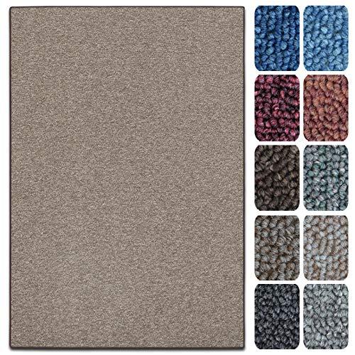 Tappetini per Scale Interne - Copri - Gradini Antiscivolo, Combinabili con Tappeti e Passatoie in Vari Colori e Misure - Semicircolari - Set da 15-23.5 x 65 cm - Marrone Chiaro
