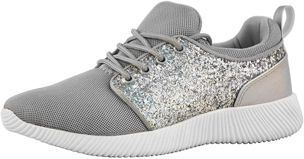 ROXY-ROSE Glitter Sneakers Breathable Shoes Fashion Sneakers Casual Shoes for Women - Walking Shoes