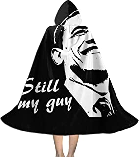 Barack Obama Still My Guy Unisex Kids Hooded Cloak Cape Halloween Xmas Party Decoration Role Cosplay Costumes Black