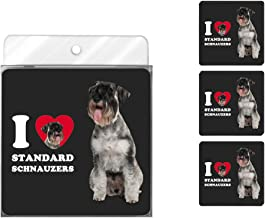 Tree-Free Greetings NC39128 I Heart Standard Schnauzers 4-Pack Artful Coaster Set