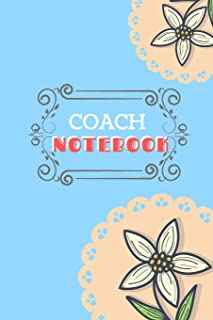 Coach Notebook: Blank Lined Notebook For Female Coach