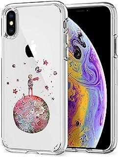 Oihxse Compatibile per Cover Trasparente iphone X/XS,Custodia iPhone XS/X Silicone Case Ultra Sottile Simpatico Morbida Pr...