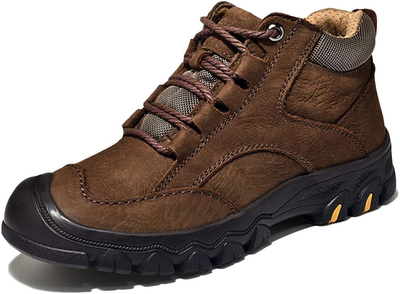Snfgoij Snow Boots Men Winter Boots Sneaker Trekking Lace Up Non-Slip Winter Tooling Boots Plus Velvet Warm Men's Boots