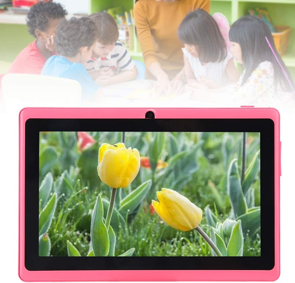 Including 50 Pre‑Installed Free Child Apps Controlled by Parents Kids Tablets for Girls 7 inch Kids Tablet- PC Tablet Computer with High‑Speed Quad‑Core Handler and WIFI and Games Pink 1