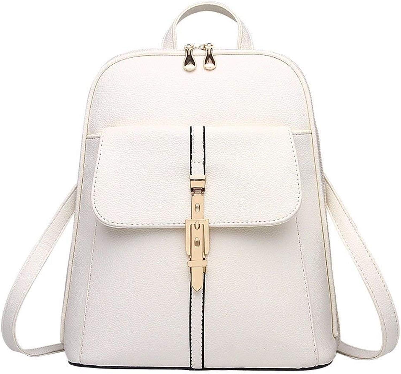 Eastery Handtasche Damen Rucksack Geldbrse Pu Leder Fashion Casual Schultertasche Daypack Einfacher Stil Für Mdchen Reis Wei, (Farbe   Colour, Größe   One Größe)