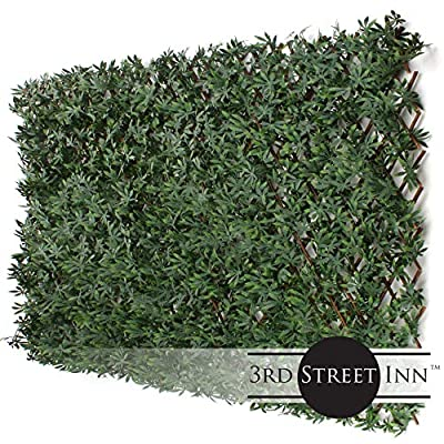 3rd Street Inn™ Leaf Trellis - Bamboo Greenery Panel - Boxwood and Ivy Privacy Fence Substitute - DIY Flexible Fencing by 3rd Street Inn