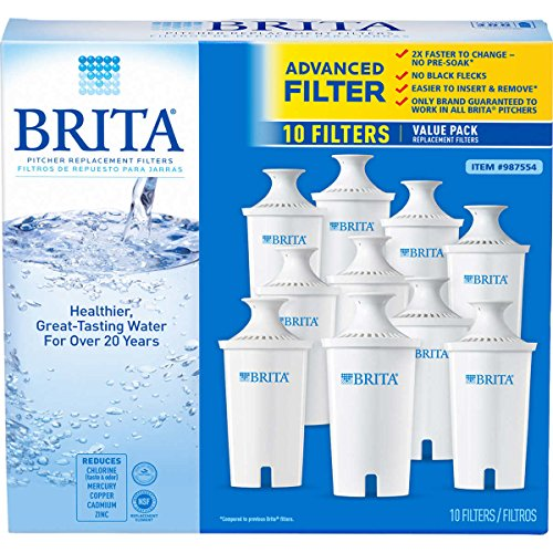 Brita 987554 Pitcher Replacement Filters, 10-Pack