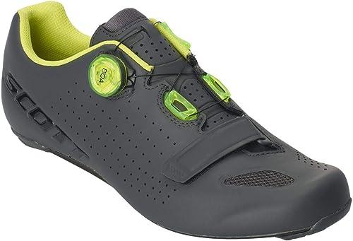 Scott Road verdeec Boa 2019 - Hauszapatos para Bicicleta de Carreras, Color gris y amarillo
