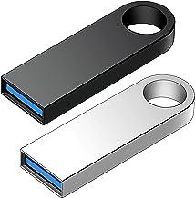 Unidad Flash USB 2.0 de 64 GB, 2 Piezas Unidades de Memoria USB de Alta Velocidad para Almacenamiento de Fotos/Videos, USB...