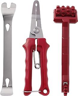 Garneck 3 peças de ferramenta de remoção de automóveis, alicate de clipe automático, fixador, painel de porta, kit de ferr...