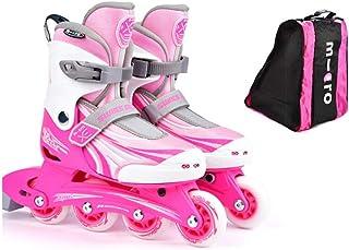 ローラースケート、子供の初心者、スケート、男性と女性、調節可能なインラインスケート (Color : A, Size : M(31-34))