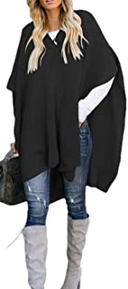 Womens Ponchos Pullover Loose Fit Knit Sweater Winter Cape