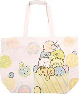 San-X Sumikko Gurashi Cotton Canvas Beach Tote Bag Ecobag Ice Cream Japan Import K-5411A