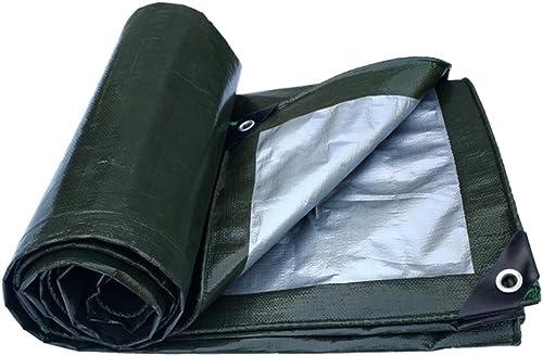 WCSBaches Bache, épaisse Couverture Extérieure Imperméable à l'eau Prougeection Solaire Camion Anti-oxydation Couverture De Jardin - Argent Vert Militaire (Taille   6X6m)