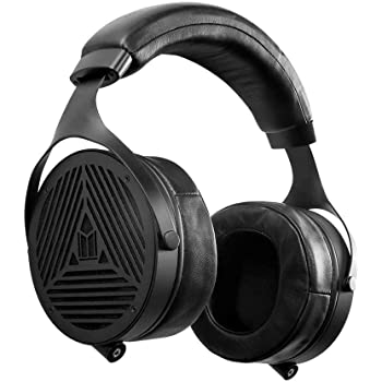 Monolith M1070 Over Ear Open Back Planar Headphones, Lightweight, Padded Headband, Plush and Removable Earpads, 106mm Planar Driver, Black