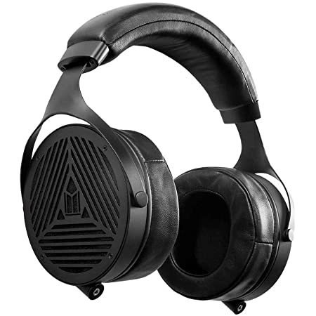 Monolith M1070 Over Ear Open Back Planar Headphones, Lightweight, Padded Headband, Plush and Removable Earpads, 106mm Planar Driver, Black