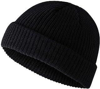 PIGBENGO Men's Winter Hats Acrylic Knit Cuff Beanie Cap Daily Beanie Warm Fisherman Hat