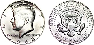 1968 D Kennedy Half Dollar 40% Silver 1/2 Brilliant Uncirculated