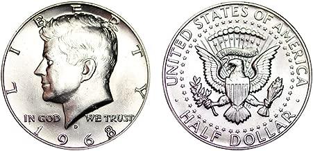 1968 D Kennedy Half Dollar 40% Silver 1/2 Brilliant Uncirculated