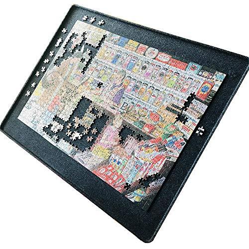 Tablero de rompecabezas de fieltro con bordes elevados y cubierta para rompecabezas de 1000 piezas, tablero de mesa portátil – sin...