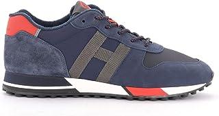 Hogan Sneakers H383 in Suede E Mesh Blu, Taglia UK: