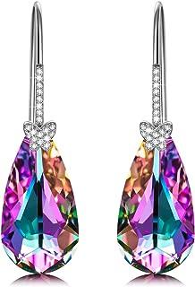Alex Perry Regalo para Ella, Deseando la Mariposa Plata de ley 925 Pendientes Aretes Mujeres Morado Cristales Swarovski, C...
