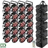 (20) Chauvet DJ EZpar T6 USB Battery-Operated Tri-Color RGB LED Wash Lights Package