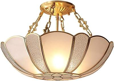 3 llamas, E27, A++ l/ámpara de techo l/ámpara para Sal/ón /& Comedor de LINDBY L/ámpara de techo Mialina en Bronce hecho de Vidrio e.o