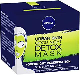 NIVEA Urban Skin Good Night Detox Mask Skin Sleeping Mask, 50ml