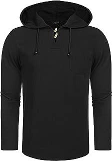 COOFANDY Men's Casual Lightweight Cotton Hoodie Hippie Beach Yoga T Shirt Sweatshirt