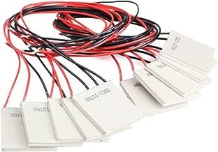 GeeBat 10PCS TEC1-12706 Thermoelectric Cooler Heat Sink Heatsink Cooling Peltier 12V 5.8A