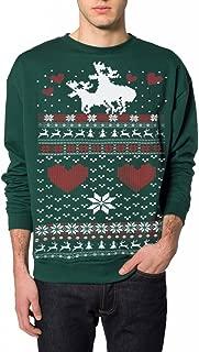 Adult Ugly Christmas Sweater Moose Love Pullover Sweatshirt