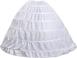 Hoop Skirt Petticoat Skirt for Women Ball Gown Slip Crinoline Underskirt 5 Ruffles 4 Hoop¡­