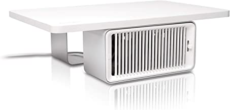 KENSINGTON(R) CoolView Wellness Monitor Stand with Fan, White, 55855