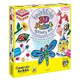 Creativity for Kids Sparkling 3D Wonder Paint Activity Kit - Deluxe Window Art Paint Kit