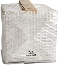Solight Design Outdoor Solar-Powered Light, Inflatable LED Lantern - Waterproof, Compact, Portable - SolarPuff Warm White