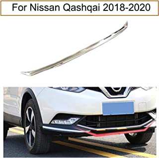 Yingchi Car Chrome Front Bumper Lower Grille Cover for Car Front Bumper Protector Cover Trim Strip for Nissan Qashqai 2018-2019