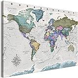 murando Mapa del Mundo pinboard 120x80 cm 1 Parte No Tejido XXL Memoboard Decoración De Pared Impresión Artística Fotografía Gráfica Poster Mapa Gris Cork Board k-A-0380-p-a