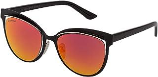 Sky Vision Cat Eye Sunglasses for Women, Red Lens, 31874