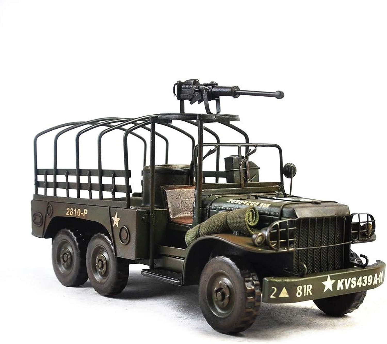 VJUKUB Antique Iron Art Fighting Military Vehicle Model Teller Hand Made Retro Iron Art Home Car Decoration Arrangement Photography Props 37  14.5  19.5cm B07KRR352V Stabile Qualität  | Lebendige Form